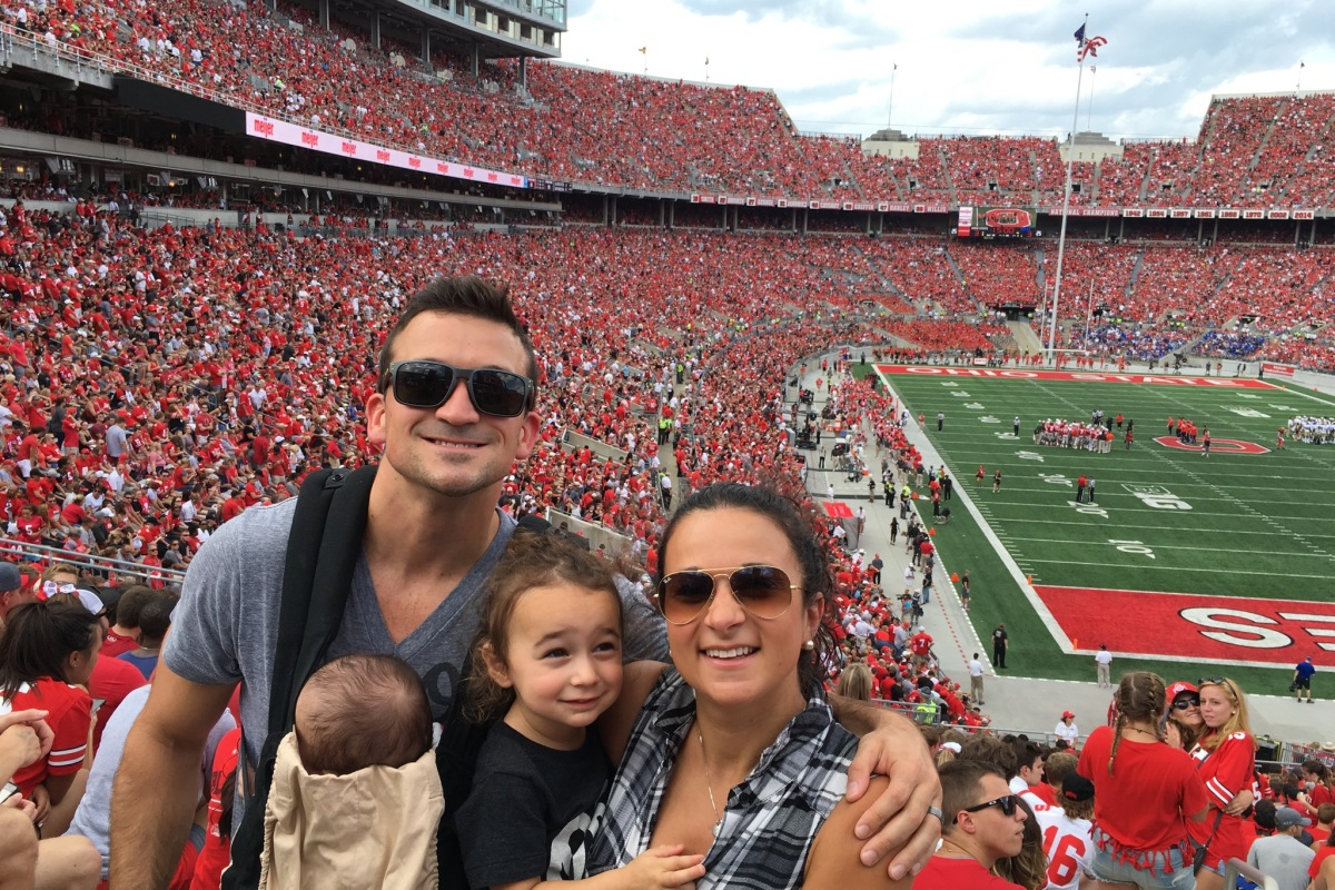 CBUS Dads blogger Steven Michalovich took his family of four to The Hoseshoe for an Ohio State football game.