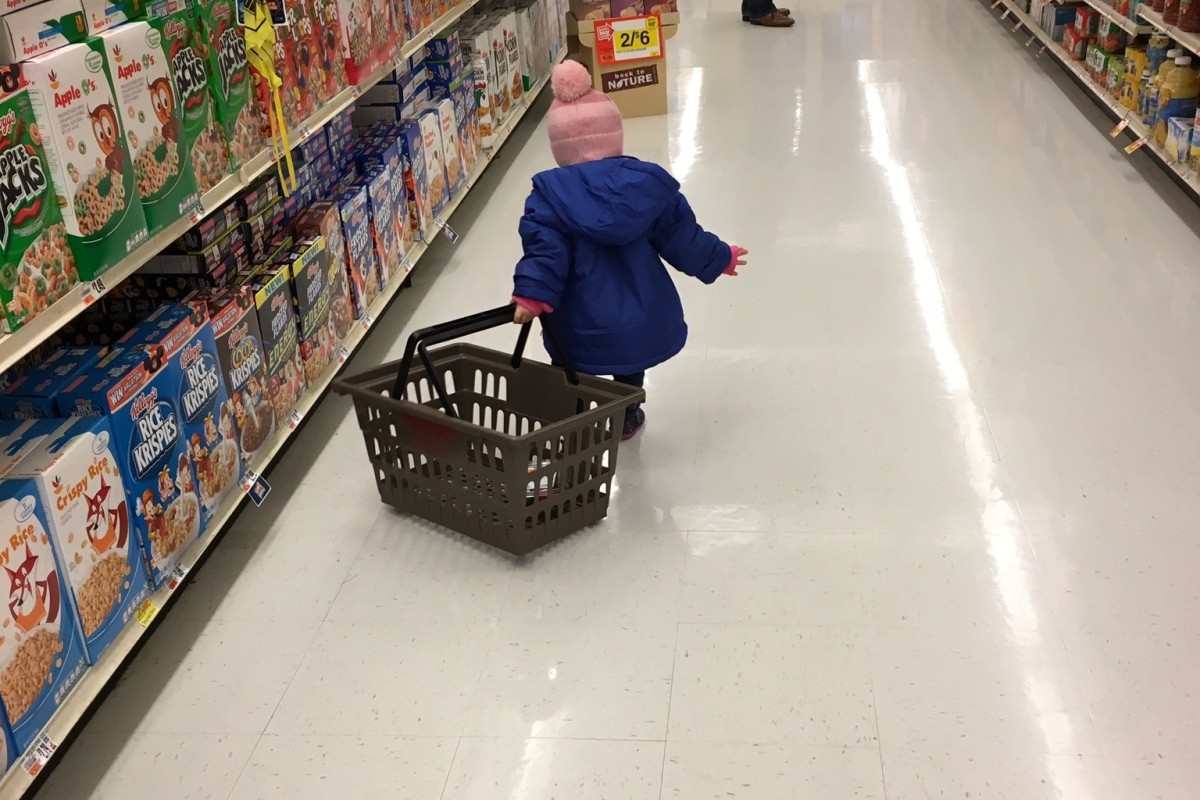 Whenever possibly, CBUS Dads blogger Steven Michalovich tries to do his grocery shopping at Kroger during happy hour.