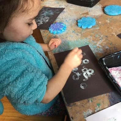 COSI Kidspace: painting