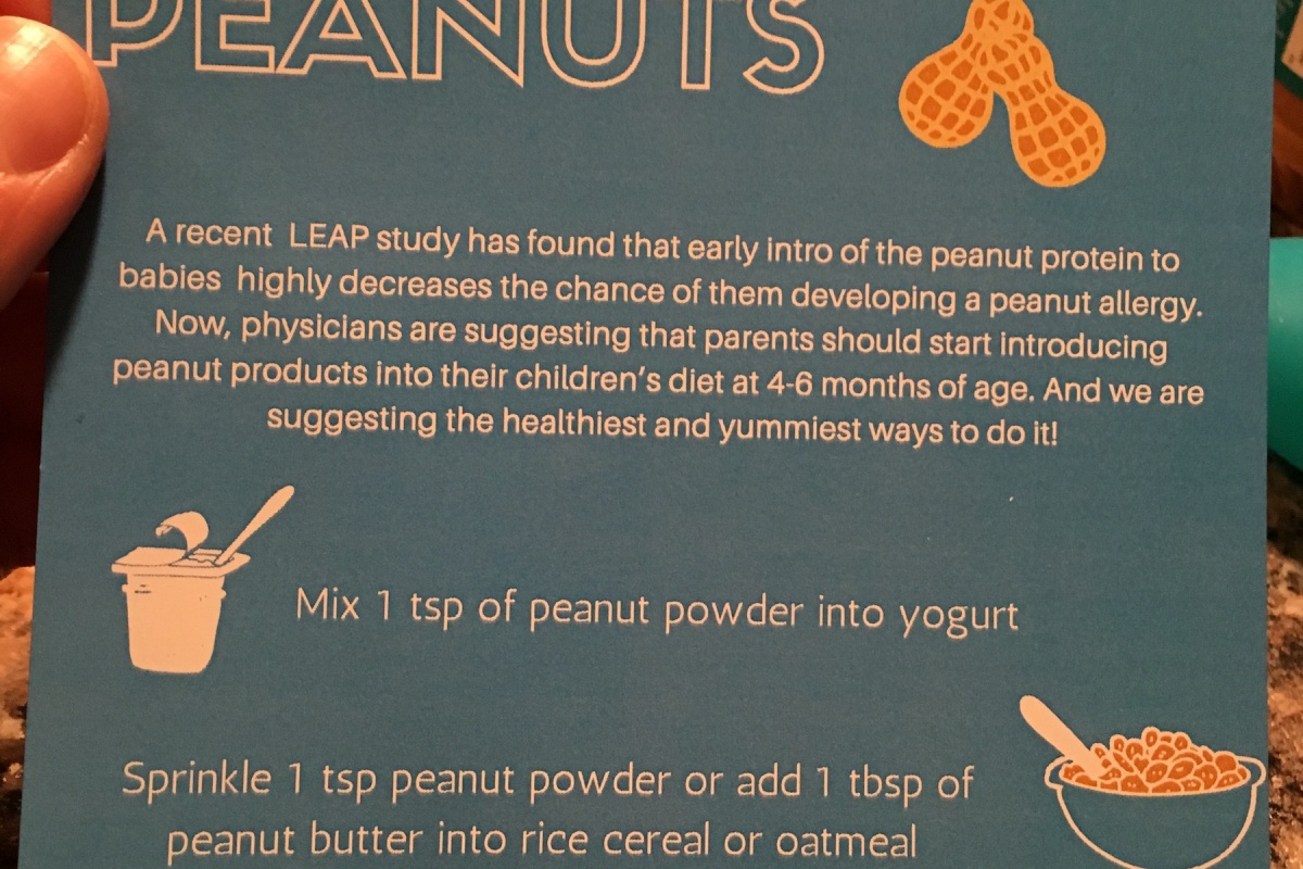 Some tips for introducing peanut proteins to infants