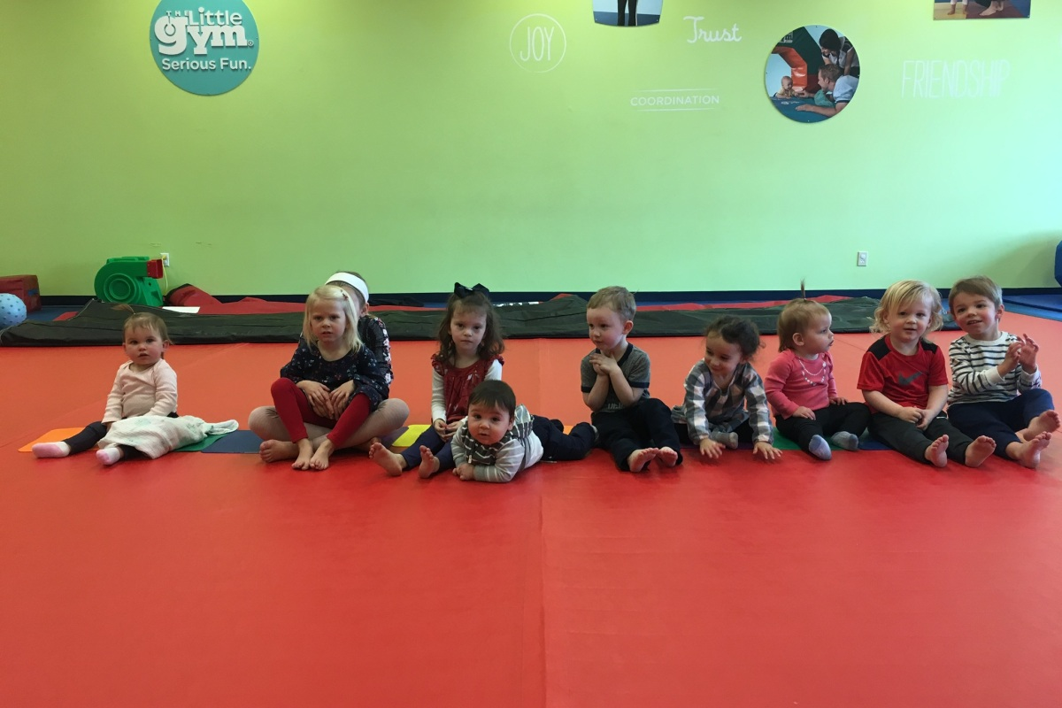 The birthday party crew at The Little Gym at Polaris