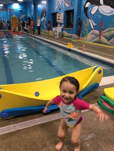 CBUS Dads dad blogger Steven Michalovich's daughter after a swim lesson.
