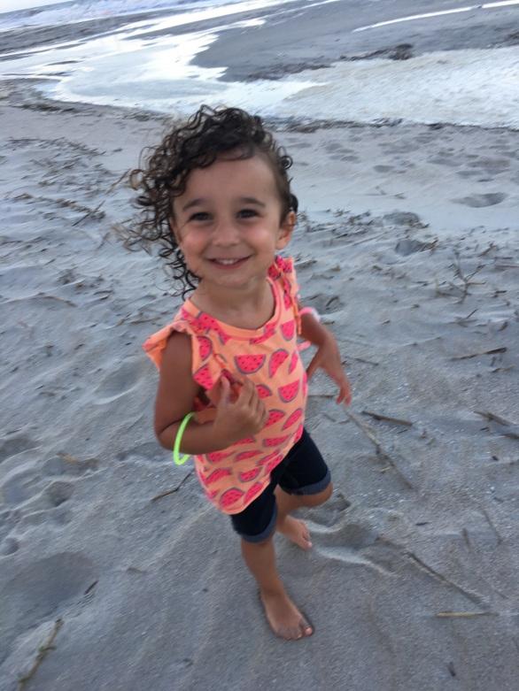 CBUS Dads dad blogger Steve Michalovich's daughter on Hilton Head Island beach.