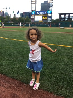 Running the bases at Huntington Park post Clippers games.